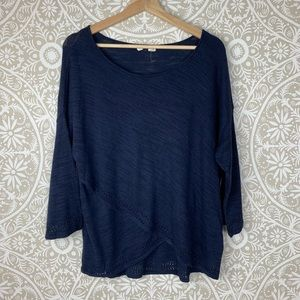 Anthropologie Moth Blue Lightweight Knit Sweater
